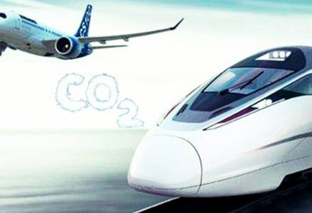 treno aereo inquinamento